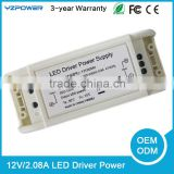 Switch mode power charger/transformer AC/DC 100-240V led power supply