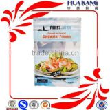 300g heat sealed 3 side coldwater prawn bags frozen seafood