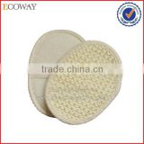 hotel disposable oval bamboo baby loofah sponge