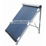 high efficiency solar collector, pressurized vacuum solar collector with heatpipe inside