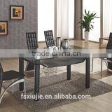 L820 glass dinning table rectangular table modern dining table set