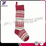Cheap wool felt knitted Christmas stocking for candy factory wholesale sales ( accept the design draft)