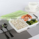 wholesale disposable plastic japanese bento box with 3 compartment