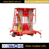 China mobile battery powered pneumatic hydraulic working height aerial work platform lift