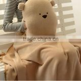 Bear Shaped Pillow Custom Double Layer Winter Blanket,Double Fleece Bear Pillow With Blanket