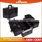 Sunrise Professional Barber High Quality Factory Custom Empty Makeup Cosmetic Barber Case and Box