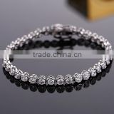 Wholesale Christian Custom Silver Zircon Bracelet Tanishq Jewellery Bracelet Designs For Girls