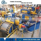 Full Automatic Rewinder Coil Steel Sheet Slitting Equipment ,Engineer Available Galvanized Steel Sheet Slit LIne With Recoiler