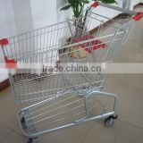 RH-SG080 80L 865*525*960mm 4''PVC Wheel Unfolding Grocery Cart for metal shopping trolley cart