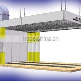 JF sand blasting room /used polishing booth /portable clean room for cars ( CE certification 2 years warranty time)