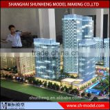 3D rendering architectural design model making/Custom architectural scale model for commercial plaza