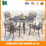 Fashion design Happy Lives rattan desk and chair luxury rattan patio bar set for sale