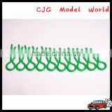 Remote control Body clips short Small-ring RC car parts for Kyosho Kyosho HPI HSP TAMIYA TRAXXAS HBX--green