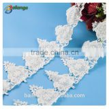 2016 lastest style high quality hot selling favorable wholesale price ribbon flower lace trim for dresses