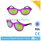 Most popular beautiful frame mirror lenses kids sunglasses