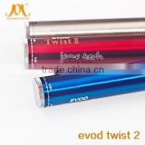 china supplier e cig battery 1600mah evod twist 2 made in china