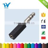 pvc 6.35mm stereo male to 3.5mm female adaptor plug to jack