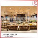 China Style Woonden Bread Display Rack For Store Furniture