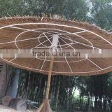 THATCH SEAGRASS PALM LEAF BEACH UMBRELLA & BAMBOO FUNRITURE_CHEAP PRICE