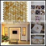 crystal color glass mosaic,marble mosaic,golden select glass and stone mosaic wall tiles