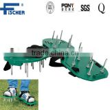 ISO approved Wealers Green Spiked Lawn Aerator Foot Shoe Set