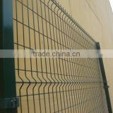 square post green wire mesh fences fence panel/ PVC COATED MESH WIRE FENCING PANEL 183cm height