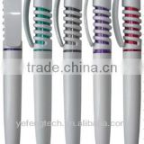 color classical ball pen for promotion / Slim promotional ball pen with logo / White Barrel custom ball pen