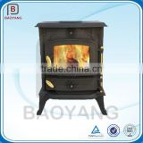 Real Fire Cast Iron Stove Wood Burning Stove With Water Jacket