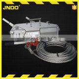 800kg manual fot tirfor with wire rope