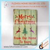 Christmas wooden wall craft plaque signs in customized printing