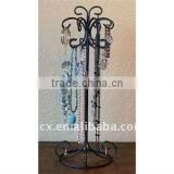 Wire counter top butterfly necklace stand