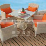 High quality rattan table&chairs,Rattan/wicker outdoor furniture at factory price