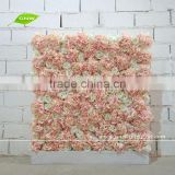 GNW FLW1508-2 Artificial Rose and Hydrangea Blossom Dried Flower Wall for wedding decor
