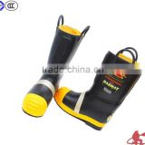 Steel toe fire safety boots long rubber boots fire retardant safety wear fire retardant shoes construction boots