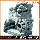 Latest design best price hand carved Chinese lion/foo dog natural granite stone sculpture