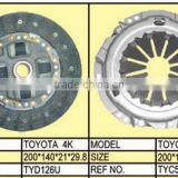 Clutch for Toyota 4K TYD126U TYC550