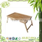 2016 Aononhg eco-friendly folding bamboo table computer table bed table
