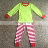 2017 Hot sale casual style latest style Wholesale Sleep Clothes Knits Girls Kids striped Cotton childrens Pajamas sets