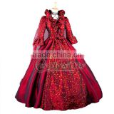 medieval gothic punk red dress in renaissance for female cosplay costume custom made