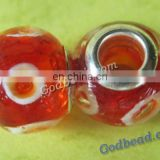 P224 beautiful glass bead wholesale handmade murano lampwork glass european beads fit for charm bracelets