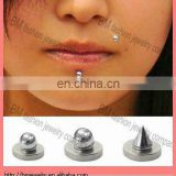 Stainless steel magnetic fake labret lip ring non-piercing body jewelry