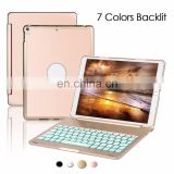 For iPad 10.5 Case keyboard, Slim Aluminium Bluetooth Keyboard Case for iPad Pro 10.5, Keyboard Folio Style Case