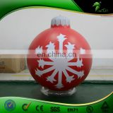 Inflatable Christmas Beautiful Ornament Balls , Giant Inflatable Indoor Decoration Hanging Balloon , Inflatable Snow Ball