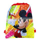 Creative 3D Printed kindergarten Animation Children's Cartoon Woven Paper Drawstring Bag - Red Mickey Mouse/Children first choic