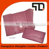 Guangzhou Factory Best Selling Colorful Leather Girls Long Clutch Wallet