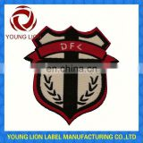 national flag pin football soccer woven badges/patches
