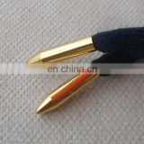 top selling gold metal accessory bullet drip tip fashion shoelace aglets with custom logo