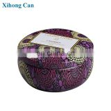 wholesale custom printed emboss small round new scented soy candle tin box