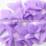 Retail 30 yards 2 petals chiffon flowers
