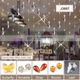 wholesale high quality crystal beads wedding curtain hanging glass crystal curtains